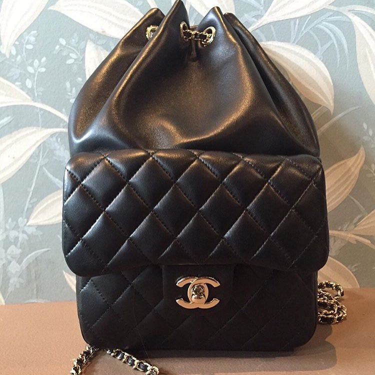 Chanel-Quilted-Drawstring-with-Flap-Bag