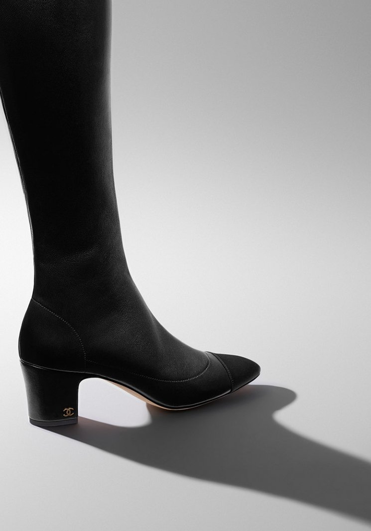chanel boots. chanel quilted winter boots