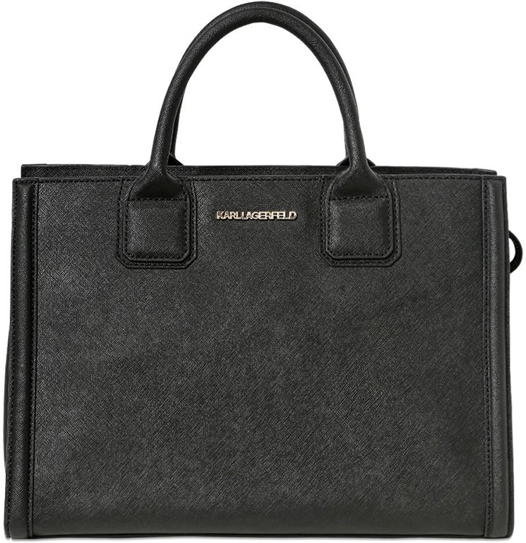 Tote Bag On Sale, Black, Leather, 2017, one size Karl Lagerfeld