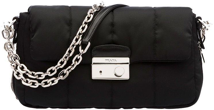 prada white shoulder bag