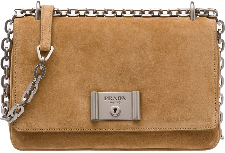 cheap authentic prada bags - Prada Metal Closure Shoulder Bag | Bragmybag