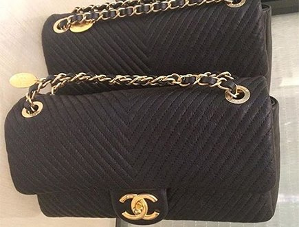 9448e8fa8fc6b9 A Closer Look Chanel Chevron Quilted Flap Bag Bragmybag. Chanel Black  Chevron Quilted Leather Medal Flap Bag Nextprev Prevnext