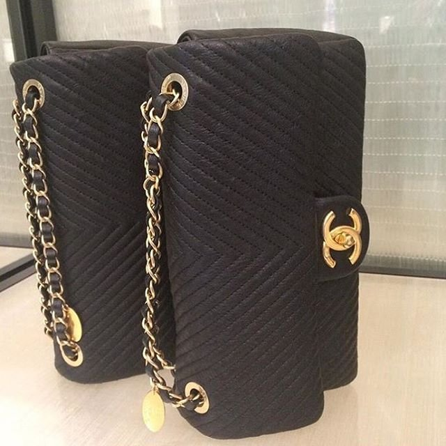 Fashion 2017 fall colors - A Closer Look Chanel Chevron Quilted Flap Bag Bragmybag