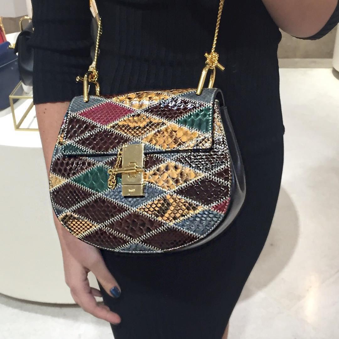 A Closer Look: Chloe Multicolor Drew Shoulder Bag | Bragmybag