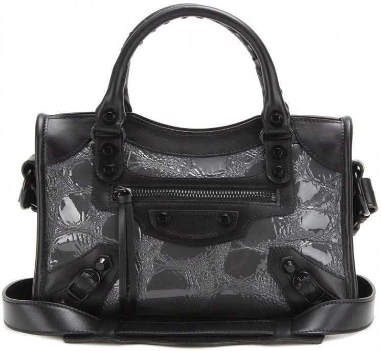 Balenciaga Classic City Embossed Patent Leather Bag | Bragmybag