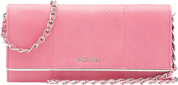 Fall In Love With the Prada Pink Leather Wallet on Chain | Bragmybag