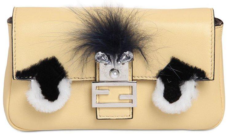 saffiano leather tote prada price - Fendi Micro Baguette Fur-Trimmed Shoulder Bag | Bragmybag