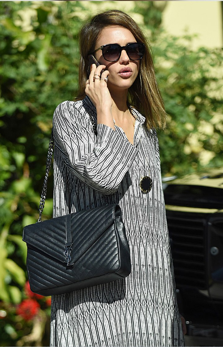 How-Celebrities-Carry-The-Saint-Laurent-Classic-Monogram-Bags-5