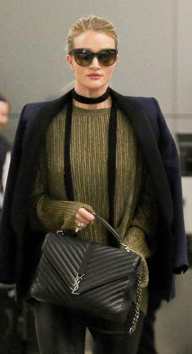 How Celebrities Carry The Saint Laurent Classic Monogram Bag ...