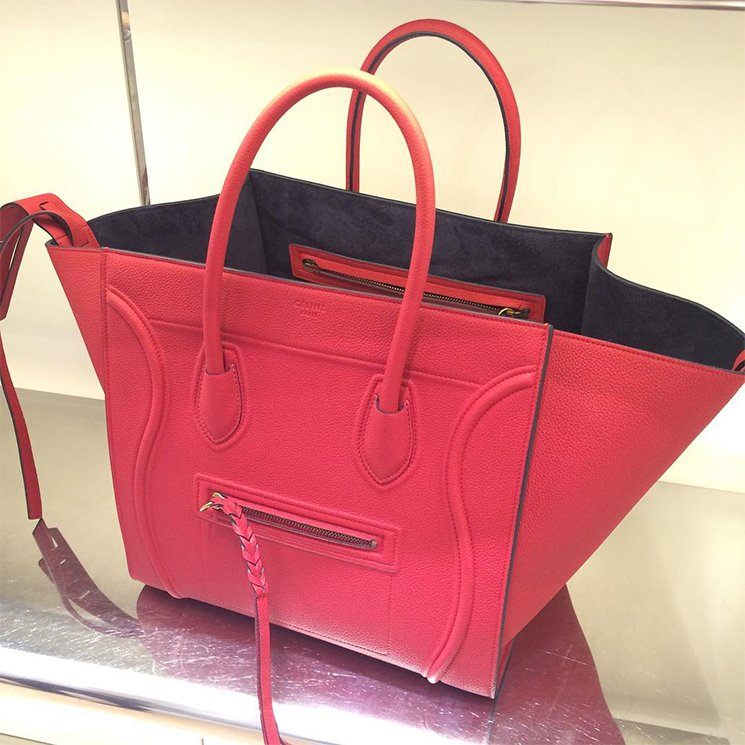 celine luggage phantom tote red
