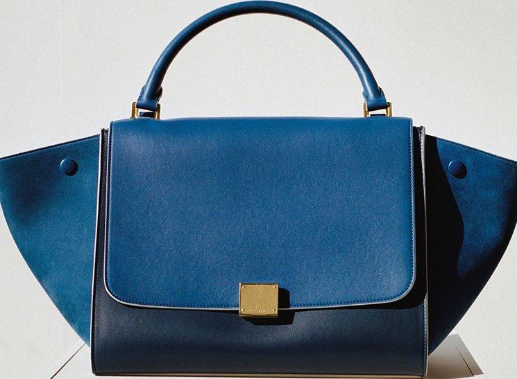 celine blue velvet strap bag