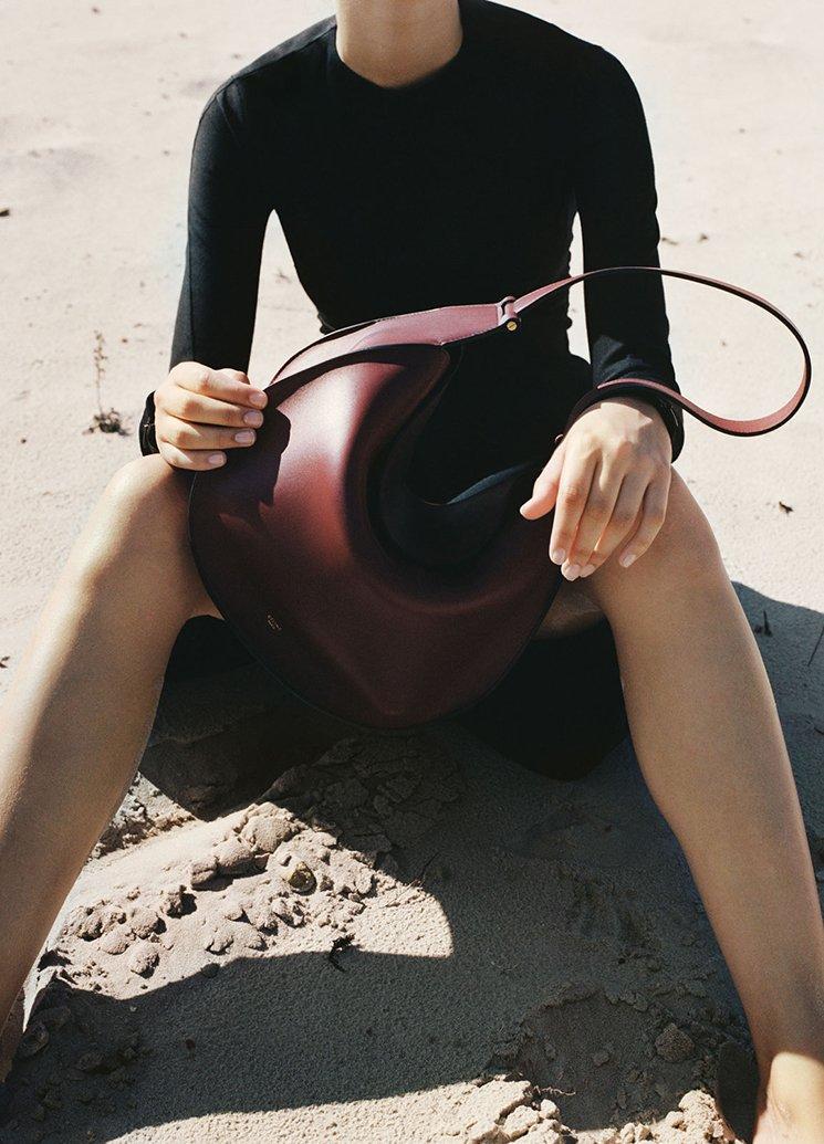 celine handbags online store - STRAP MEDIUM MULTIFUNCTION IN BLACK GRAINED AND SLEEK CALFSKIN