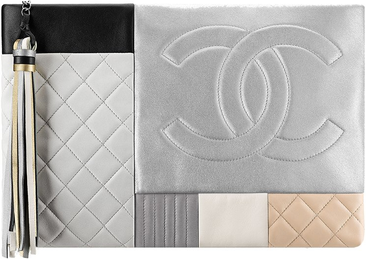 Chanel-Large-Quilted-Patchwork-Pouch