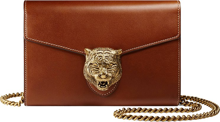 4e7c5a97521 Gucci Animalier Leather Chain Bag