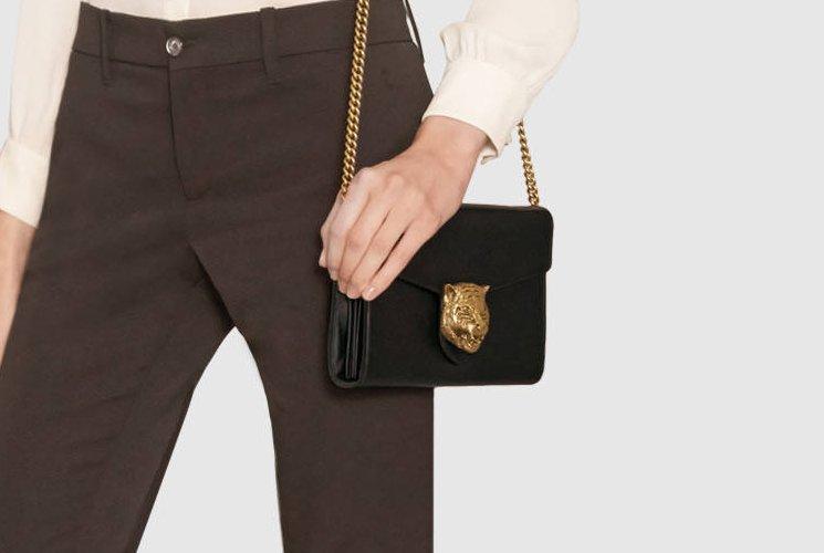 40edb1804e3 Gucci-Animalier-Leather-Chain-Bag-5