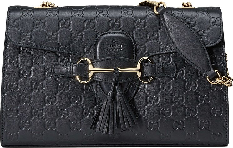 a293890380d Gucci Emily Guccissima Chain Shoulder Bag