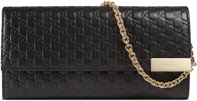 d6f4728c0570 Gucci Microguccissima Leather Chain Wallet | Bragmybag