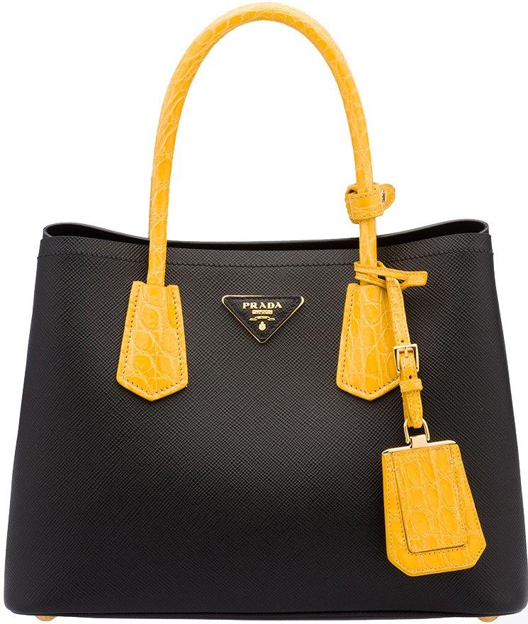 leather bag prada