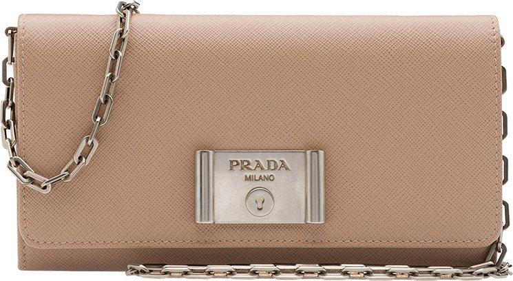 prada ostrich bag - Prada Saffiano Lock Leather Flap Wallet on Chain | Bragmybag
