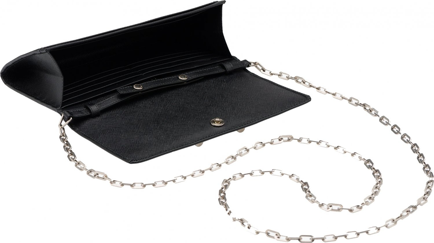 pada bag - Prada Saffiano Lock Leather Flap Wallet on Chain | Bragmybag