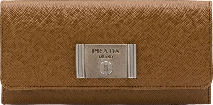 Prada Saffiano Lock Leather Wallets | Bragmybag