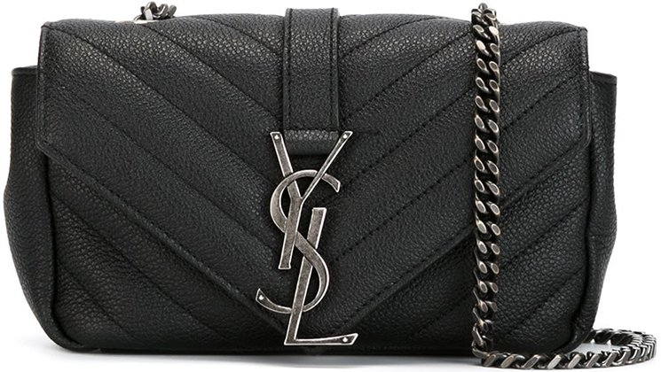 Saint-Laurent-Classic-Monogram-Quilted-Baby-shoulder-bag-with-Gunmetal-Chain