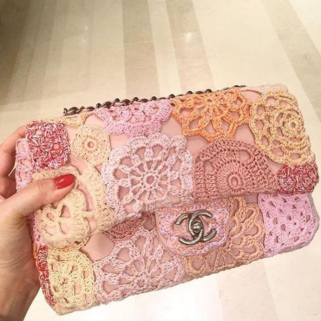 Chanel Flower Crochet Flap Bag - Bragmybag