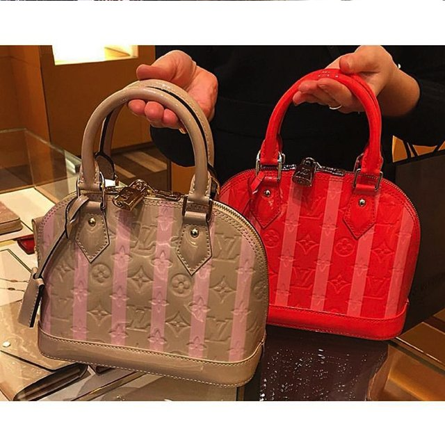 Louis Vuitton Striped Alma Bag
