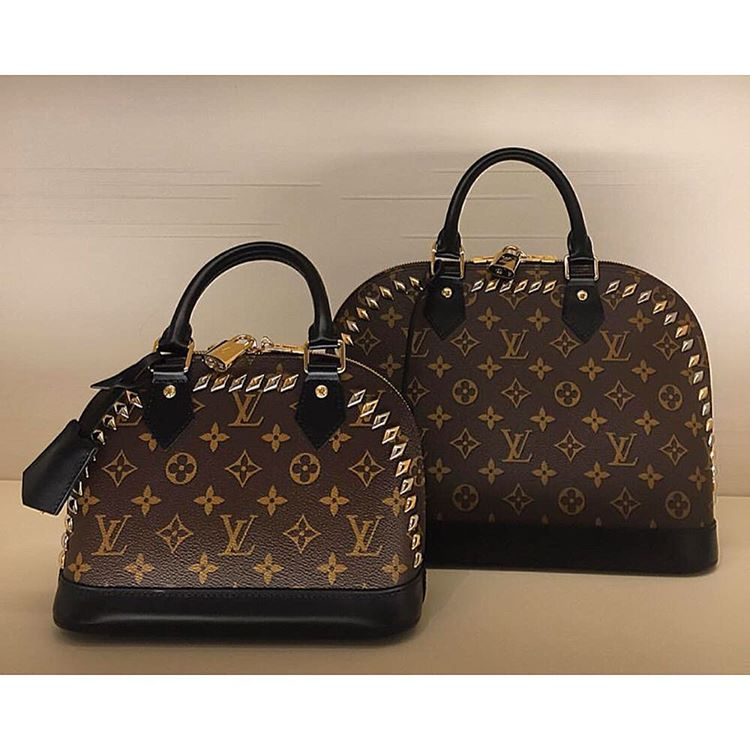 Louis Vuitton Monogram Studded Alma Bag