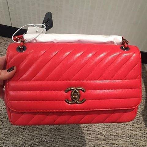 0c6b23ffaeeb A Closer Look: Chanel Diagonal Quilted Flap Bag   Bragmybag