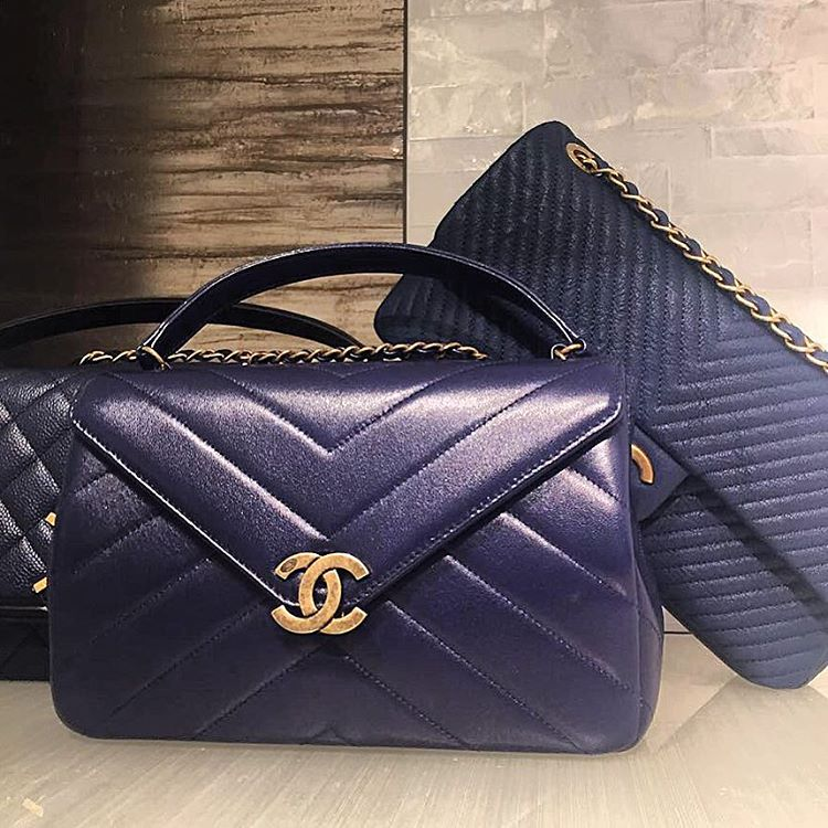 Chanel-Chevron-Quilted-Bag-With-Vintage-Clasp