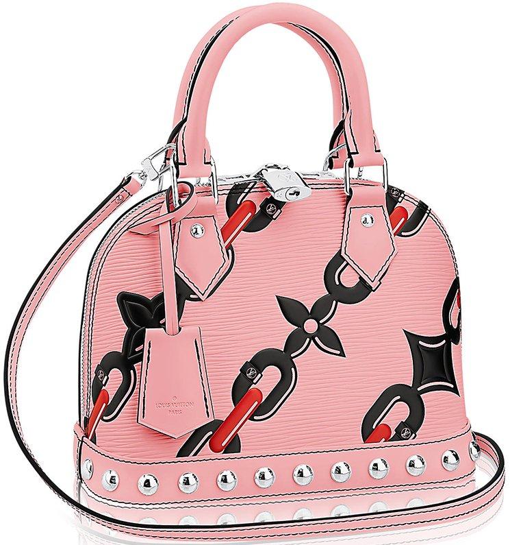 Louis-Vuitton-Alma-Chain-Flower-Mongram-Bag-4