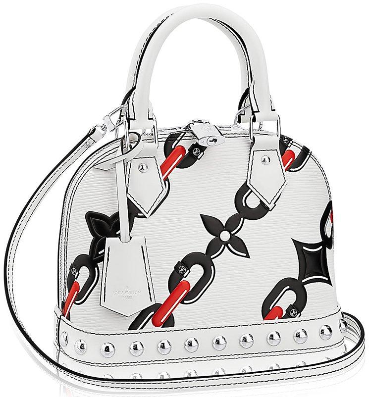 Louis-Vuitton-Alma-Chain-Flower-Mongram-Bag-5
