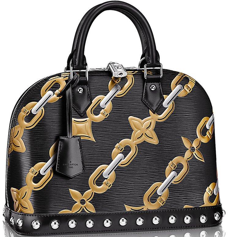 Louis-Vuitton-Alma-Chain-Flower-Mongram-Bag