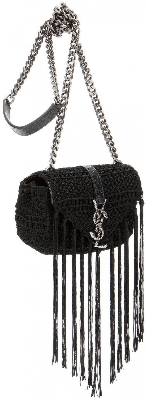 b8d8787a612b red tag purses - Saint Laurent Classic Baby Monogram Crochet Shoulder Bag