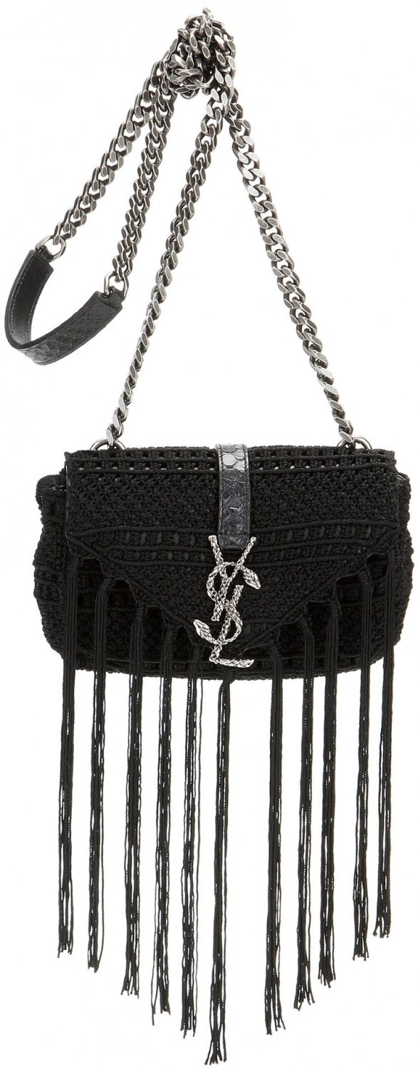 yves saint laurent cabas chyc tote - Saint Laurent Classic Baby Monogram Crochet Shoulder Bag | Bragmybag