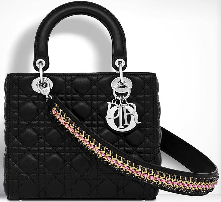 Lady-Dior-Bag-With-Embroidered-Shoulder-Strap