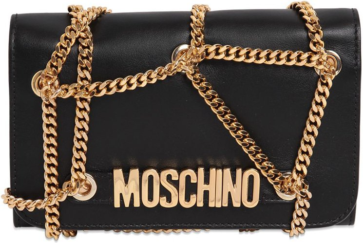 Moschino Chained Quilted Shoulder Bag | Bragmybag : moschino quilted shoulder bag - Adamdwight.com