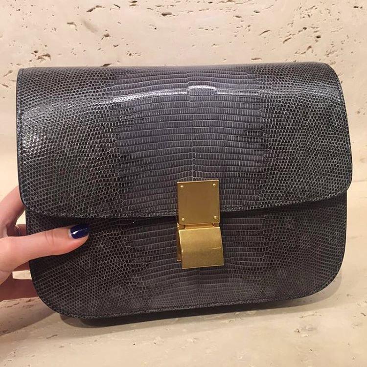 celine handbags online shopping - Celine Exotic Classic Box Bag | Bragmybag
