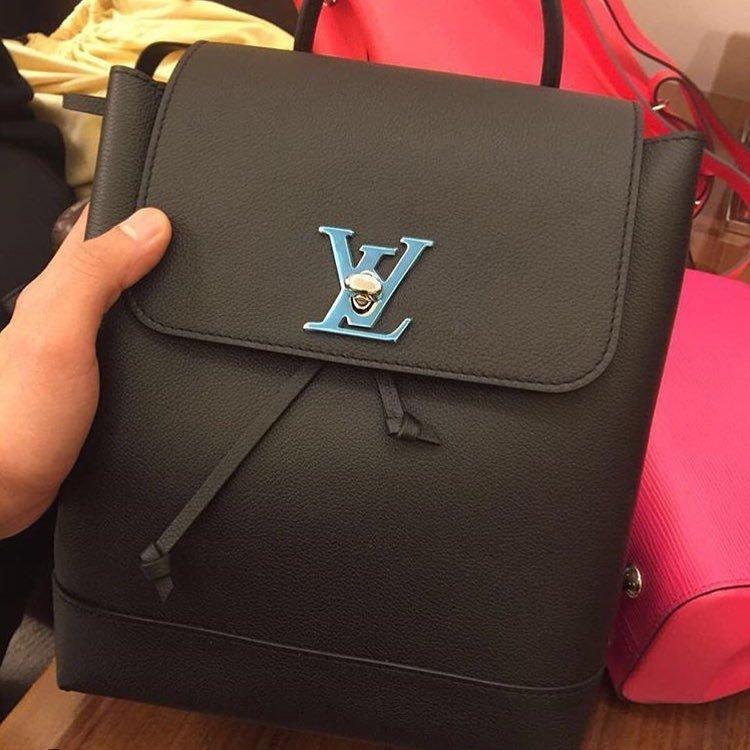 8eb7dfa46175 A Closer Look  Louis Vuitton Lockme Backpack
