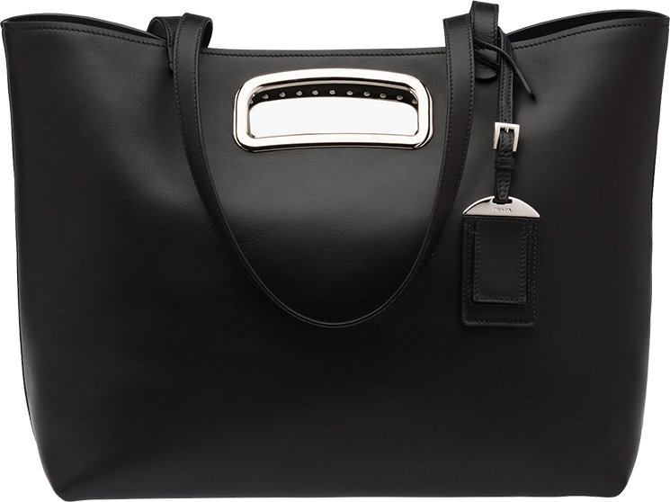 Prada-intarsia-handle-Tote-Bag