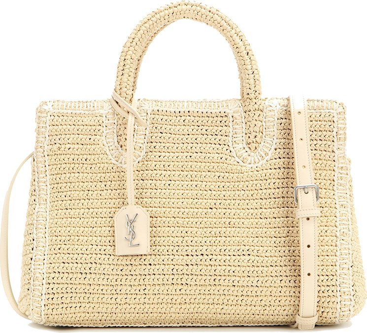 Saint Laurent Cabas Rive Gauche Raffia Bag