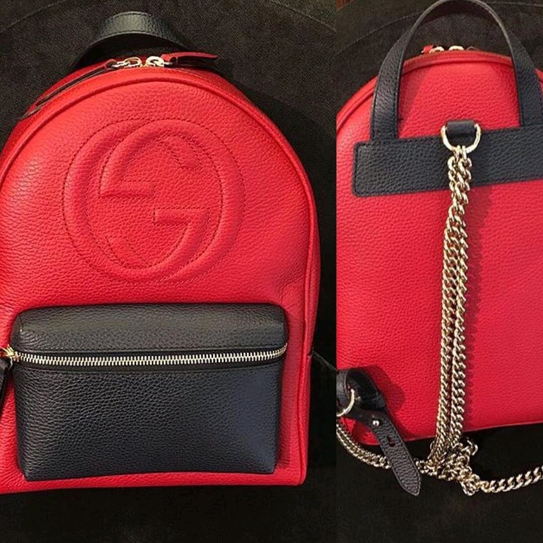 c83673d665e A Closer Look  Gucci Soho Leather Backpack