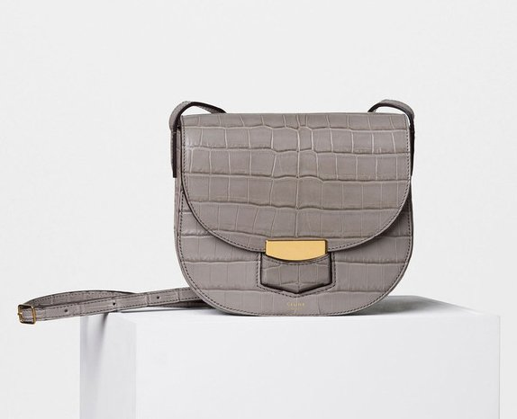 14a0f391f0 Celine-Trotteur-Bag-in-Exotic-Leathers-2. Celine Small Trotteur Shoulder Bag  in Quartz Crocodile