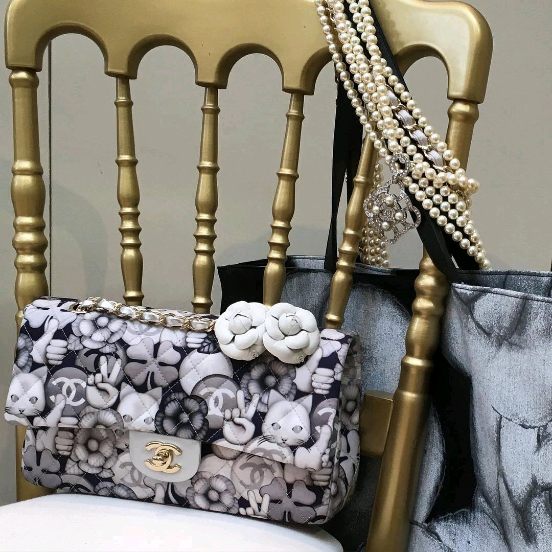 Chanel Cat Flower And Peace Graphic Flap Bags | Bragmybag