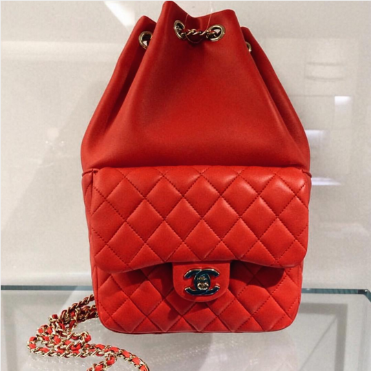 Chanel-Red-Backpack-In-Seoul