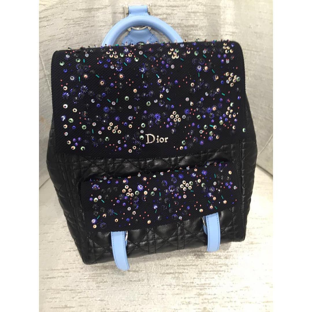 Dior-Cannage-Stiched-Sequin-Backpack
