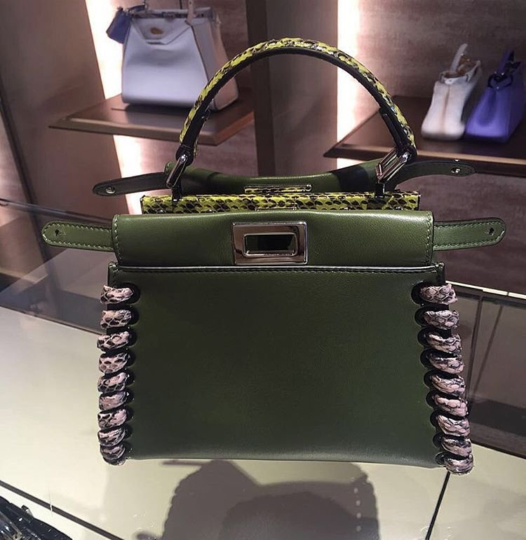 cd9d22e8413e Fendi Peekaboo Bag with Python Stitches – Bragmybag