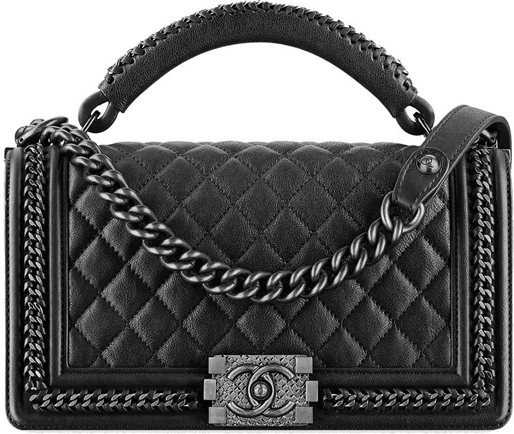 8bd002087182 Chanel-Paris-In-Rome-2016-Collection-26. Boy Chanel Chain Handle Flap Bag
