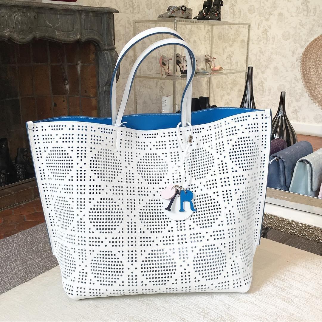 46a716f537 A Closer Look: Dior Perforated Shopping Bag   Bragmybag